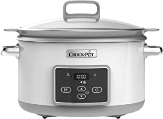 Crock-Pot DuraCeramic Digital Saute Slow Cooker with Hob-Safe Pot, Anti-Stick and Easy Clean, 5 Litre (4 to 5 People) [CSC...