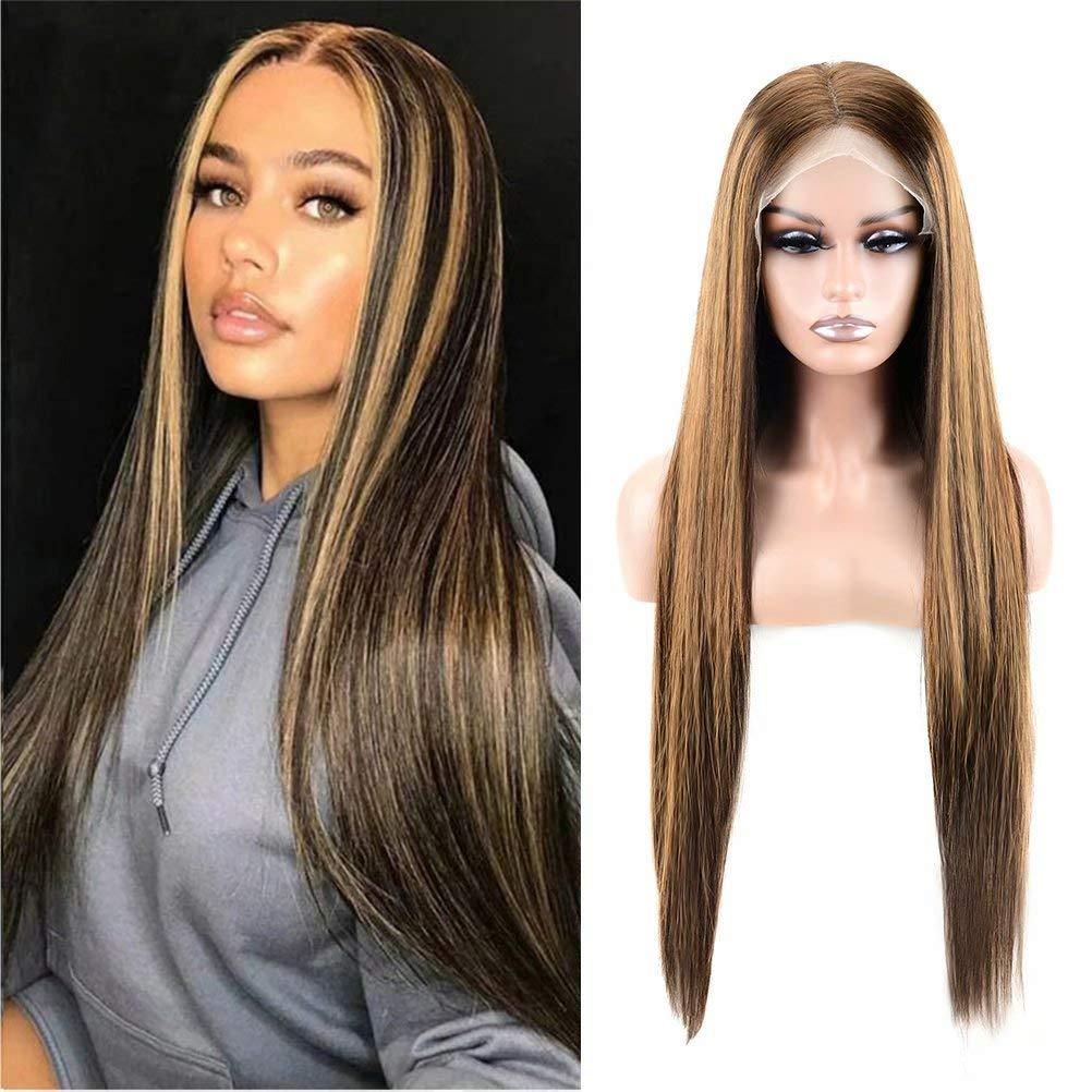 G Minneapolis Mall GHAIR 13x4 Highlight Lace Frontal Wigs Mix Human Bro 4 quality assurance Hair 27