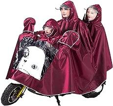 Jiansheng Regenmantel, Regenschutz-Mantel, Elektroauto, Regenmantel, Poncho, Herren und Damen, dreiteilige gespiegelte Outdoor-Reitausrüstung, Blau 4XL (Color : Crimson, Size : XXXXL)