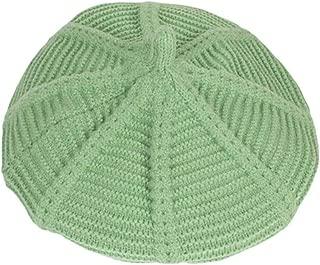 Xiang Ru Warm Fall Winter Pure Color Pumpkin Beret Hat Unisex Beanie Cap Green
