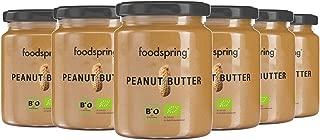 foodspring Crema de Cacahuete BIO, Pack de 6 x 250g, Fuente