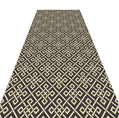 WJS Läufer-Teppich-Ausgangsschlafzimmer Wird mit dem großen Bereich-Kissen-Korridor-Gang-Teppich gefüllt, weich und kundengerecht (Farbe : A, größe : 1.1 * 5m)