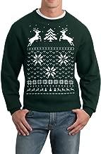 Skip N' Whistle Adult Ugly Christmas Sweater Reindeer in Snow Pullover Sweatshirt