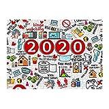 2020 Puzzle de 500 piezas, puzle de Navidad, juguete para adultos y niños, juguetes conmemorativos de este extraño año 2020 (multicolor)