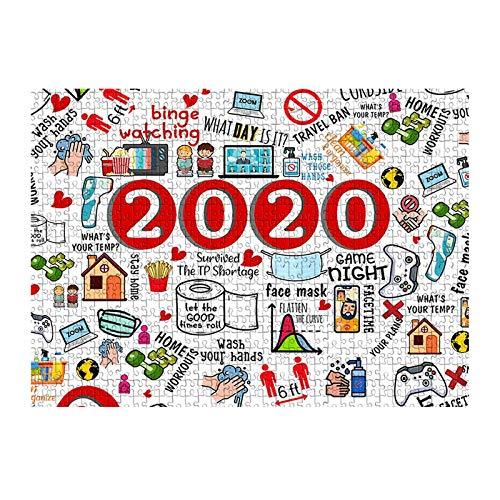 Hunpta - Rompecabezas de 1000 piezas con amigos o familiares o niños (rojo 2)