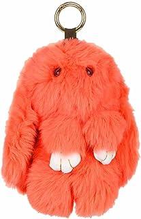 Scarlet Bijoux, portachiavi a forma di coniglio, vera pelliccia, circa19x 11cm