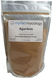 Myriad Mycology Agarikon Mushroom Powder - 1 Pound - Made in USA (Ku Bai Ti) - Natural Immune Booster