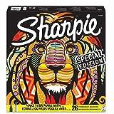 Sharpie Special Edition - Marcadores Permanentes Para Colorear, Punta Fina y Extrafina, Colores Diversos, Paquete de 26 Unidades, Caja León