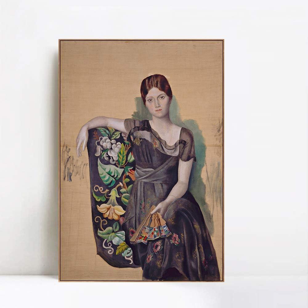 国内即発送 INVIN 在庫一掃売り切りセール ART Framed Canvas Giclee d'Olg 1917-18 Print Portrait Art