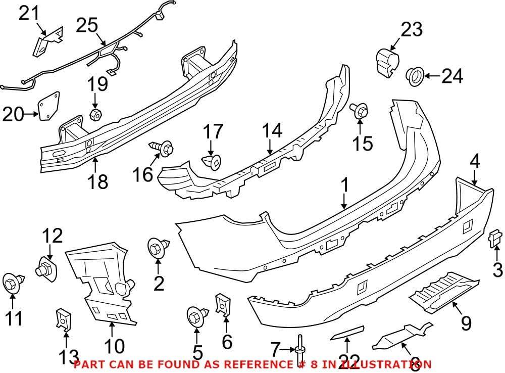 Genuine OEM Rear Lower Bumper Cover Heat 40% OFF Cheap Sale X1 BMW E84 Max 88% OFF Shield For 2