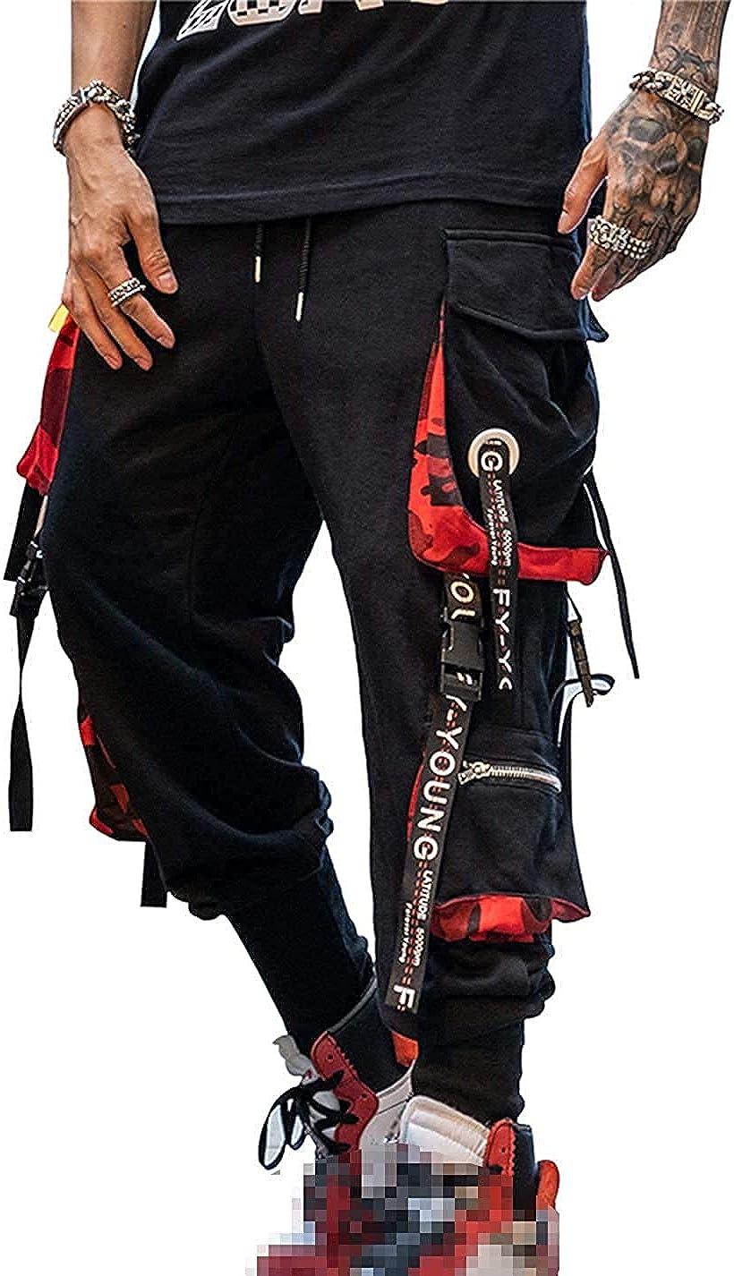 Pantalones deportivos Punk Cargo Baggy Techwear Hip Hop Harem Streetwear tácticos para hombre