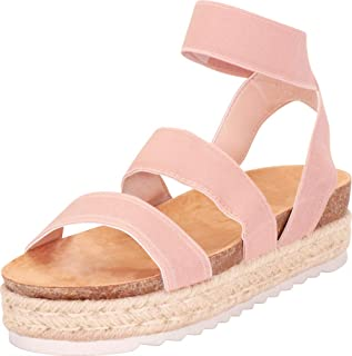 e75e68ac276b Nature Breeze Kacie-02 Women s Casual Summer Spring Open Toe Espadrille  Wedge Sandals