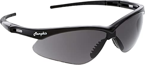 سلسلة إم سي آر سيفتي ميمفيس إم بي 112، نظارات أمان، حماية للعين، إطار أسود، عدسات رمادية