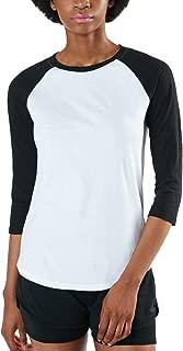 Women's Dynamic Cotton Raglan Baseball 3/4 Sleeve Active Top T-Shirt