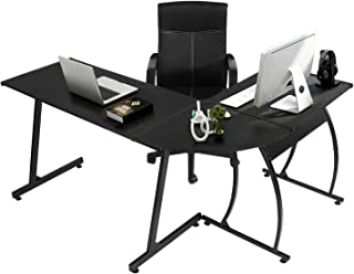 GreenForest L-Shaped Corner Desk Computer Gaming Desk PC Table,Home Office Writing..