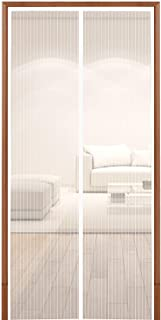 Hoobest White Magnetic Screen Door with Durable Mesh Curtain and Full Frame Fastener Tape (Screen Size 39inchx83inch Fits 36inch Doors)