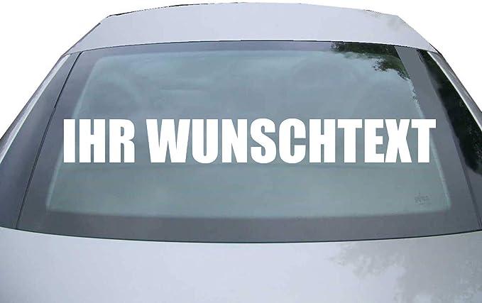 Indigos Ug Aufkleber Mit Wunschtext Für Die Heckscheibe Bis 120 Cm Auto Domain Beschriftung Schriftzug Cartattoo Auto