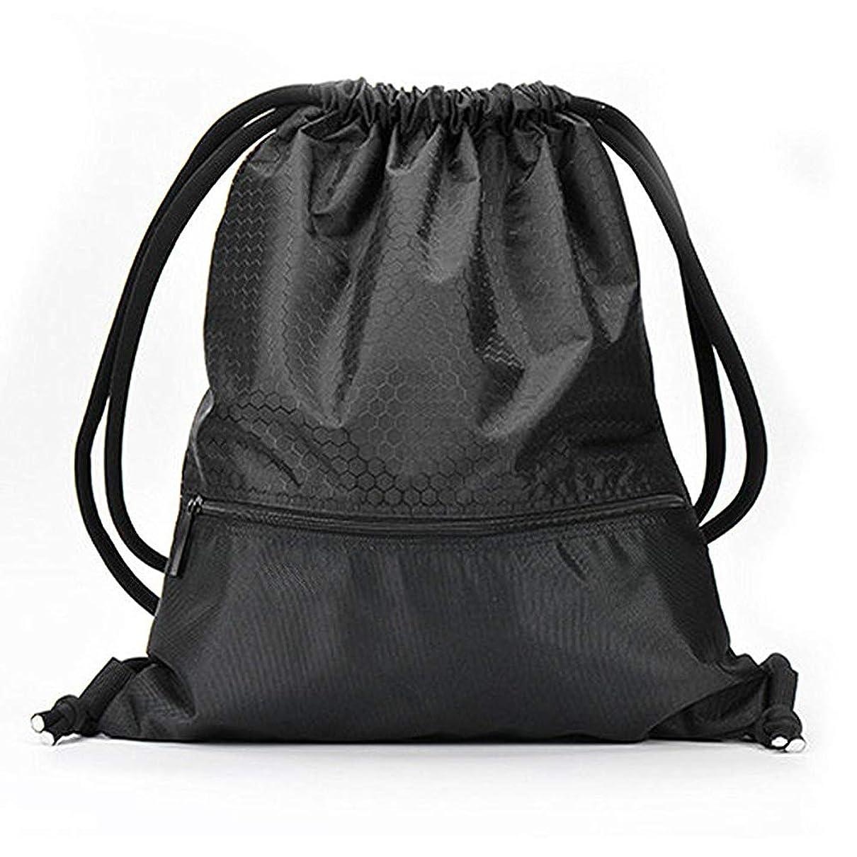 ピル指標移動Foppery ジムサック ナップサック スポーツバッグ 巾着袋 リュック ナイロン 撥水 軽量 耐久性 ポケット付き 男女兼用