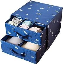 Underwear Storage Boxes Oxford Cloth Foldable Closet Dividers with Drawer Wardrobe Organiser for Bras Socks Handkerchiefs ...