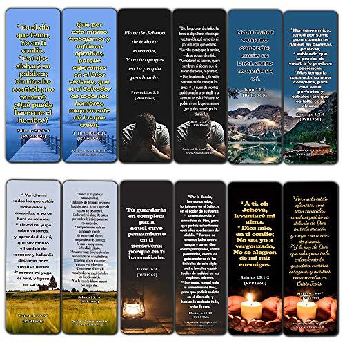 Segnalibri religiosi spagnoli, versi bibbia su fidarsi del Signore durante la crisi, confezione da 60