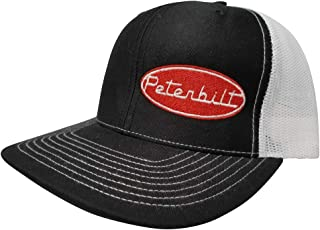 f863bc70a Richardson Peterbilt Logo Emblem Snapback Hat, Custom Trucker Cap for Men  and Women