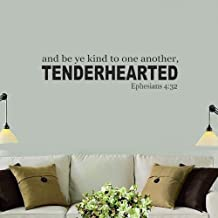 jtzwcs Vinyl Wall Decal Wall Stickers Art Decor Peel and Stick Mural Removable Decals and be ye Kind to one Another tenderhearted for Living Room