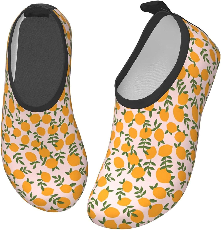 Jedenkuku Cute Little Lemon Fruit Children's Water Shoes Feel Barefoot for Swimming Beach Boating Surfing Yoga