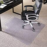 ES Robbins EverLife Anchor Bar Lipped Vinyl Chair Mat for High Pile Carpet, 36 by 48-Inch, Clear