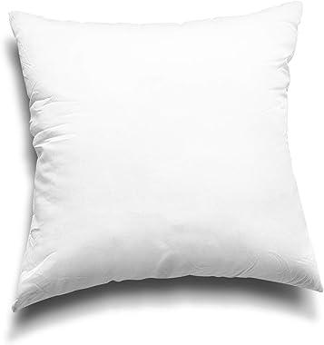 Edow Throw Pillow Inserts, Set of 2 Lightweight Down Alternative Polyester Pillow, Couch Cushion, Sham Stuffer, Machine Washa