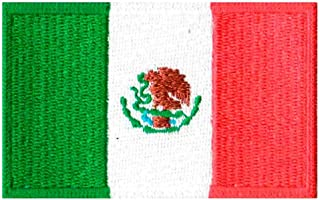 Patch Bordado - Bandeira Do México BD50091-326 Termocolante Para Aplicar