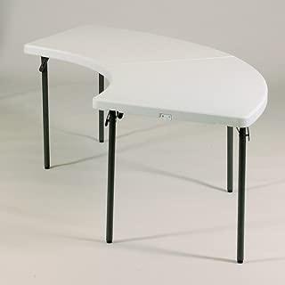 Correll Heavy Duty Plastic Serpentine Food Service Folding Table Gray Granite 30 W x 96 L, Gray