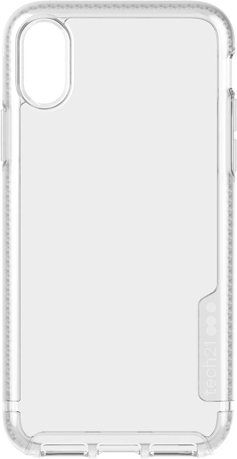 tech21 Protective Ultra Thin Pure Clear Back Case Cover for Apple iPhone X/XS, Clear