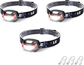 LED Rechargeable Headlamp Flashlights, Headlight with 5 Modes, Adjustable and Lightweight for Kids and Adults, Perfect for...