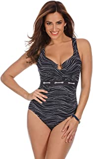 Miraclesuit Women's Swimwear Sonar Escape Tummy Control Scalloped Neckline One Piece Swimsuit