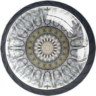 Mandala - Juego de 4 pomos para armario de cocina cajones y aparador