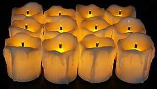 DIYAのdiyas 12のディワリ装飾プラスチックLEDティーライトキャンドル(イエロー)-boxためディーパック