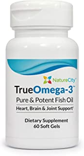True-Omega-3 1300mg Burpless Fish Oil Supplement 468mg EPA 350mg DHA