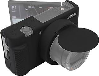 Easy Hood Schutzhülle kompatibel mit Sony ZV 1 ZV1 Digital Vlogging Kamera, Anti Scrach Soft Silikon Gummi Schutzhülle Protector mit Abnehmbarer Objektivdeckel (Schwarz)