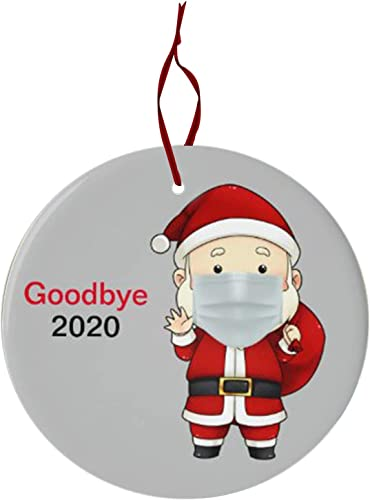 OPTIMISTIC 2020 Christmas Tree Ornament Decoration - Toilet Paper Crisis,Quarantine,Mask - 2020 Events Commemorative Ornament Decoratings, Christmas Party Home Holiday Decor, Double-Sided Printed