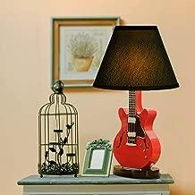 XXM Creative Light-Table lamp,Cartoon Guitar Small Table Lamp Bedroom Bedside Lamp Minimalist Modern Table Lamp 220V