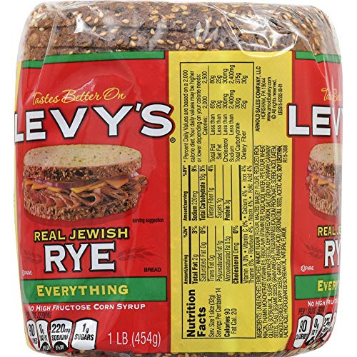 Levy's Real Jewish Rye Everything Bread, 16 oz