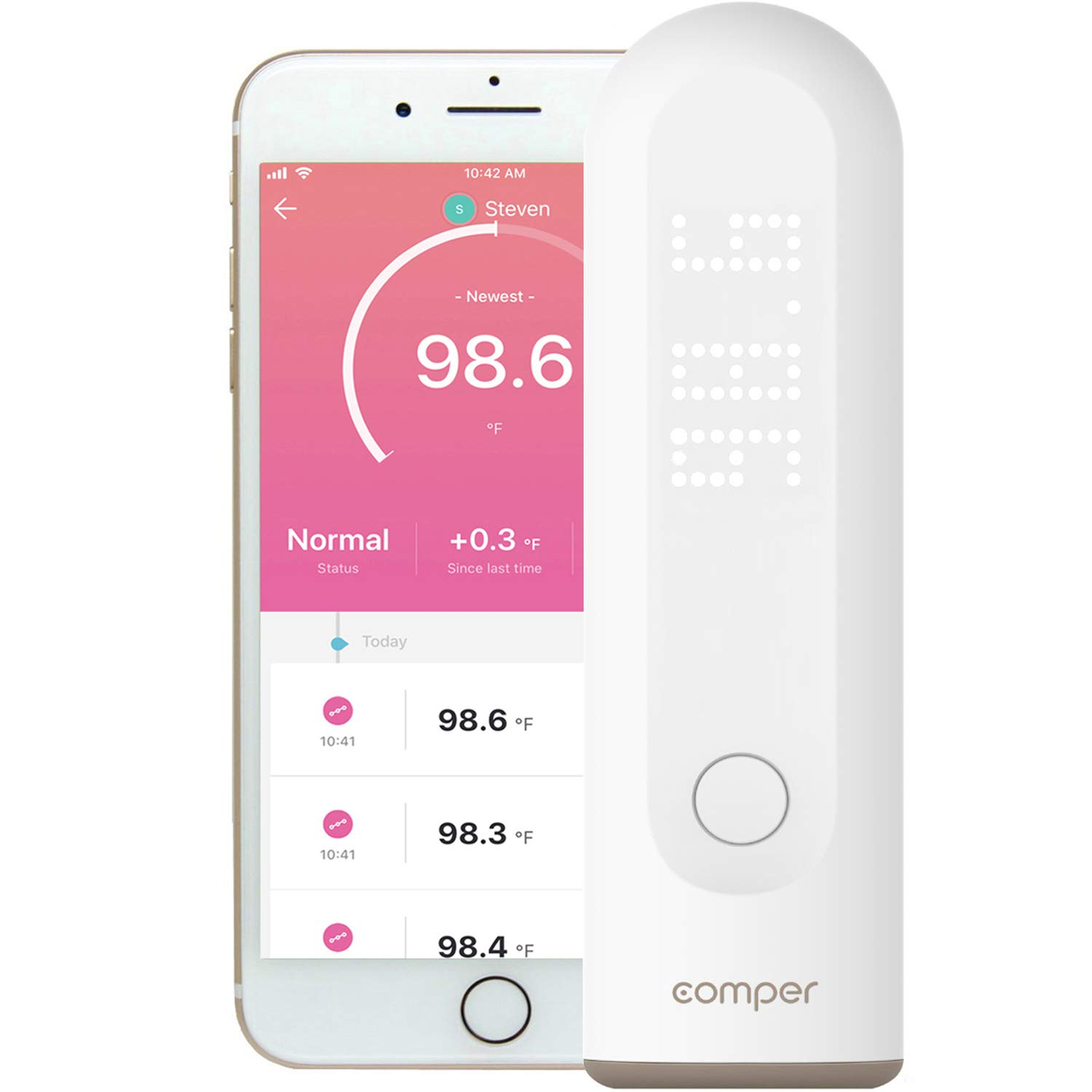 Comper Basal Thermometer Medically Certified Disinfection