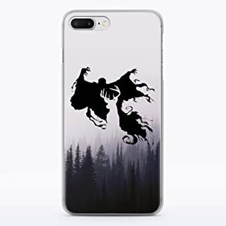 Harry Potter Patronus Deer iPhone 7 and iPhone 8 Clear Case Dementor Expecto Patronum Hogwarts Fandom Cell Phone Durable Plastic Case for iPhone 7 iPhone 8 Foggy Wood Nature MA1293
