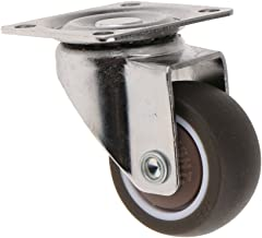 HOMYL 1.5'' 25kg Capacity Swivel Caster Wheel with Plate and Bearing Trolley Furniture Handcart Caster