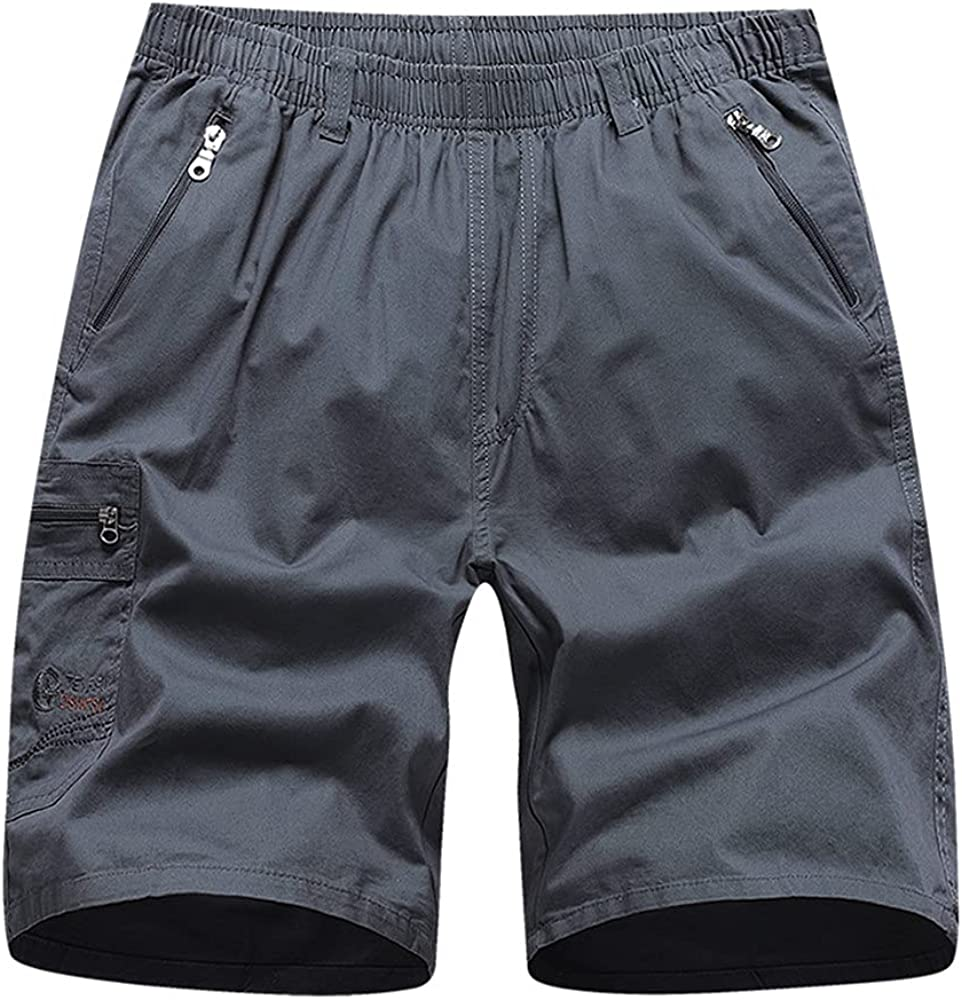 Xalutec Men's Cargo Shorts Casual Relaxed Fit Multi-Pocket Outdoor Cotton Casual Summer Work Shorts