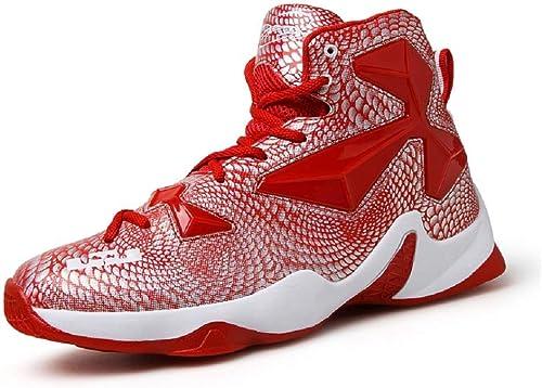 Yunyulian Chaussures de basket-ball pour hommes. Chaussures de tennis de qualité supérieure. Chaussures de course antidérapantes
