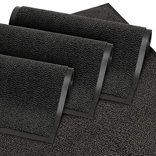 GadHome Fußmatte, Schwarz 60x90 cm | Eingangstürmatte, wasserdicht, waschbar, strapazierfähiger Schmutzfänger | Rutschfester Schmutzfängerfußmatte für Haustür, Flur, Eingang, Küche, Schlafzimmer