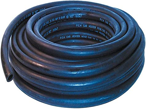 AutoSiliconeHoses 16mm ID Black 5 Metre Length Rubber Heater Hose