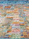 Poster 50 x 70 cm: Hauptweg und Nebenwege von Paul Klee -