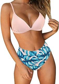 3426e27b76828 RUUHEE Women Stripe Printing Padded Push up 2 Piece Bikini Sets Swimsuits